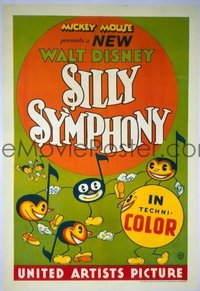 267 SILLY SYMPHONY linen 1sheet