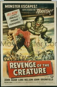 v048 REVENGE OF THE CREATURE  1sh '55 great image!