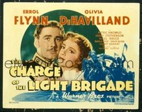 1136 CHARGE OF THE LIGHT BRIGADE title lobby card '36 Errol Flynn