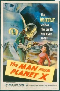 VHP7 252 MAN FROM PLANET X one-sheet movie poster '51 Edgar Ulmer, great art!