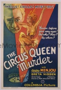 069 CIRCUS QUEEN MURDER linen 1sheet