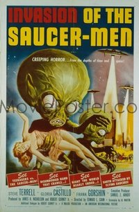 204 INVASION OF THE SAUCER MEN linen 1sheet