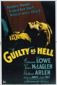 149 GUILTY AS HELL paperbacked 1sheet