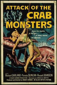 v154 ATTACK OF THE CRAB MONSTERS  1sh '57 Roger Corman