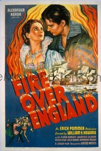 187 FIRE OVER ENGLAND paperbacked 1sheet