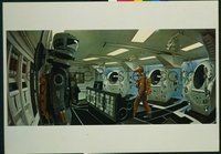 v369c 2001 A SPACE ODYSSEY #3 27x39 still '68 in the ship!
