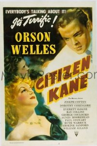 617 CITIZEN KANE paperbacked 1sheet