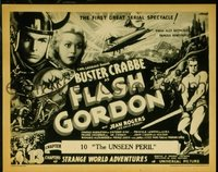 #161 FLASH GORDON Chap 10 title lobby card '36 Buster Crabbe serial!!