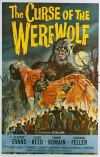 #284 CURSE OF THE WEREWOLF one-sheet movie poster '61 Fisher, cool image!!
