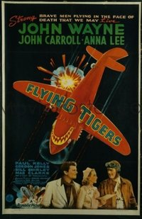 JW 202 FLYING TIGERS style A one-sheet movie poster '42 great airplane image!