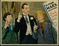 179 DUCK SOUP ('33) #6, Chico & Harpo with man pointing up LC