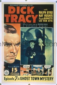 185 DICK TRACY ('37) linen, CH7 1sheet
