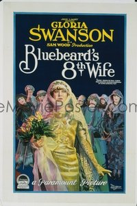 253 BLUEBEARD'S 8TH WIFE ('23) linen 1sheet