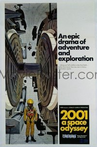 v366 2001 A SPACE ODYSSEY linen 1sh '68 Cinerama, wheel!