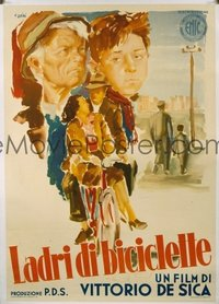 v098 BICYCLE THIEF linen Italian 1p '48 Vittorio De Sica