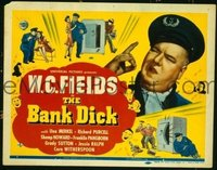 #182 BANK DICK title lobby card '40 W.C. Fields IS Egbert Souse!!