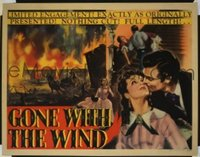 v189 GONE WITH THE WIND  1/2sh '40 Clark Gable, Leigh