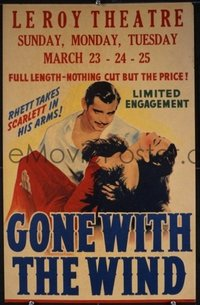 051 GONE WITH THE WIND UF general release window card