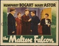 2185 MALTESE FALCON lobby card '41 Bogart, Astor & most of cast!