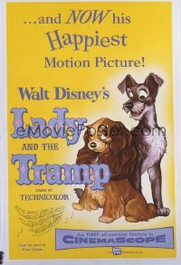 111 LADY & THE TRAMP linen 1sheet