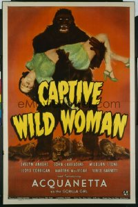 CAPTIVE WILD WOMAN 1sheet