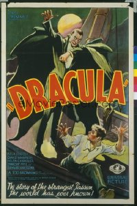 DRACULA ('31) cartoon style 1sheet