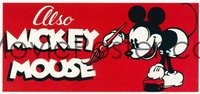 ALSO MICKEY MOUSE stock stock insert card
