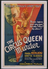 CIRCUS QUEEN MURDER 1sheet