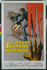 I WAS A TEENAGE WEREWOLF 1sheet