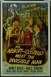 ABBOTT & COSTELLO MEET THE INVISIBLE MAN 1sheet