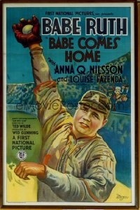 036 BABE COMES HOME 1sheet 1927