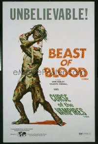 BEAST OF BLOOD/CURSE OF THE VAMPIRES 1sheet