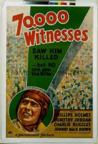 183 70,000 WITNESSES 1sheet 1932