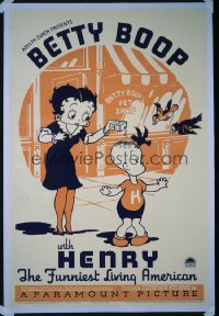 BETTY BOOP WITH HENRY 1sheet