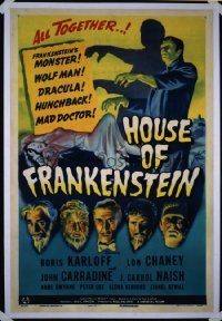 HOUSE OF FRANKENSTEIN 1sheet