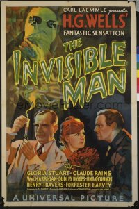 INVISIBLE MAN ('33) 1sheet