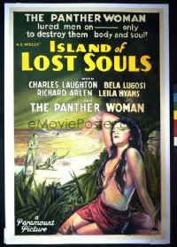 ISLAND OF LOST SOULS 1sheet
