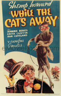 167 WHILE THE CAT'S AWAY ('36) linen 1sheet
