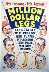 150 MILLION DOLLAR LEGS ('32) linen 1sheet