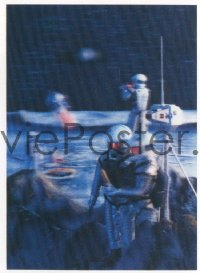 v368 2001 A SPACE ODYSSEY lenticular Japanese 4x6 postcard '68 Kubrick, art of astronauts on moon!