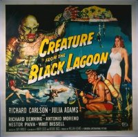 200 CREATURE FROM THE BLACK LAGOON linen 6sh