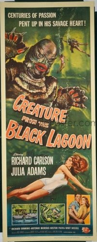 v046 CREATURE FROM THE BLACK LAGOON  insert '54 classic!