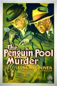087 PENGUIN POOL MURDER linen 1sheet