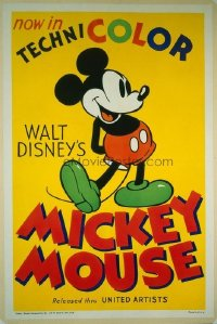 264 WALT DISNEY'S MICKEY MOUSE CARTOON linen 1sheet