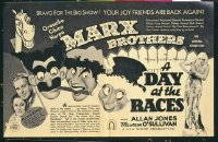 #153 DAY AT THE RACES Australian herald '37 Marx Brothers!