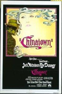 #380 CHINATOWN one-sheet movie poster '74 Jack Nicholson, Roman Polanski!