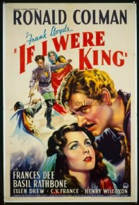 156 IF I WERE KING ('38) paperbacked 1sheet