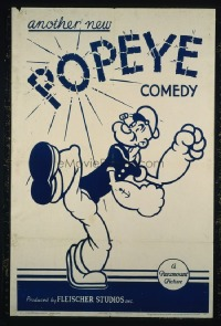168 ANOTHER NEW POPEYE COMEDY ('39) linen 1sheet