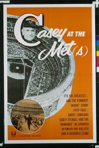 037 CASEY AT THE METS 1sh '65 Casey Stengel sparked romance between the city & baseball team!