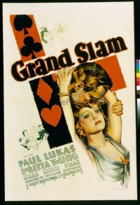 118 GRAND SLAM ('33) paperbacked 1sheet
